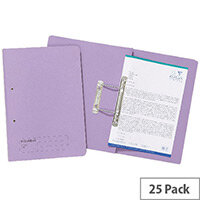 Guildhall Mauve Transfer File Foolscap Pack of 25
