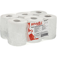 WypAll L10 Food Hygiene Centrefeed Paper Rolls 1-Ply 6 Rolls/430 Wipes White Pack of 2580 6222