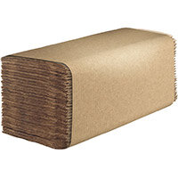 Hostess Natura Hand Towels 1Ply Interfold Natural Pack of 12 6832