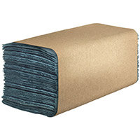 Hostess Natura Hand Towels 1Ply Interfold Blue Pack of 12 6836