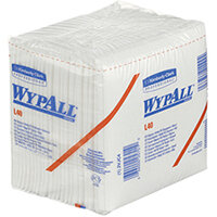 WypAll L40 Folded Wipers 1-Ply 18 packs of 56 Sheets White Pack of 1008 7471