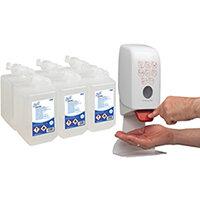 Scott Alcohol Foam Hand Sanitiser 1L Pack of 6 FOC Dispenser KC832096