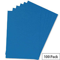 Q-Connect Binding Comb Covers Leathergrain Pack of 100 Blue A4