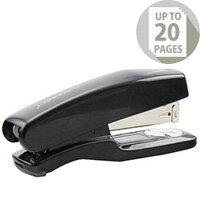 Q-Connect Stapler Plastic Half Strip Black 20 Sheets Capacity
