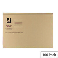 Q-Connect Buff Square Cut Folder Medium Weight 250gsm Foolscap Pack of 100