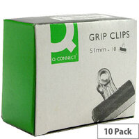 Q-Connect Grip Clip 51mm Black (Pack of 10)