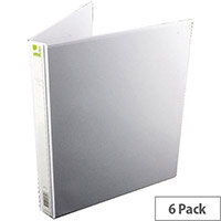 Q-Connect Presentation 4D-Ring Binder 16mm A4 White Pack 6