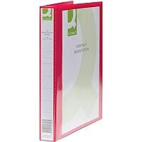 Q-Connect Presentation 4D-Ring Binder 25mm A4 Red
