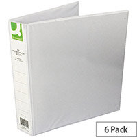 Q-Connect Presentation 4D-Ring Binder 40mm A4 White Pack 6
