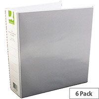 Q-Connect Presentation 4D-Ring Binder 50mm A4 White Pack 6