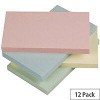 Q-Connect Pastel Quick Note Repositionable Pad 125x75mm Rainbow