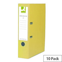 Q-Connect Yellow A4 Paperbacked Lever Arch File Pack of 10