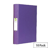 Q-Connect 2-Ring Binder A4 25mm Polypropylene Purple Pack of 10