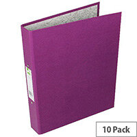 Q-Connect 2-Ring Binder A4 25mm Paper-Backed Purple Pack of 10