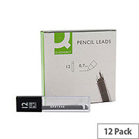 Q-Connect Pencil Leads 0.7mm Pack of 144 (12 tubes by 12 leads)
