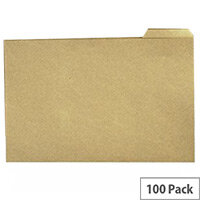 Q-Connect Tabbed Folder 170gsm Foolscap Pack 100