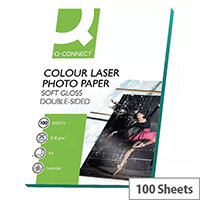 Q-Connect A4 Semi-Gloss Colour Laser Printer Paper 210gsm (Pack of 100)