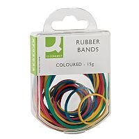 Q-Connect Coloured Rubber Bands 15g Assorted Pack of 10