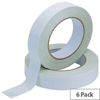 Q-Connect Double-Sided Tape 25mm x 33 Metres Pack of 6