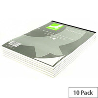 Refill Pad A4 Quadrille Ruled Punched 2-Hole Head Bound 80 Leaf 10 Pack Q-Connect