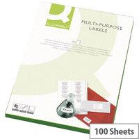 Q-Connect Copier Labels 210x287mm 1 per A4 Sheet Butt Cut Pack of 500 White