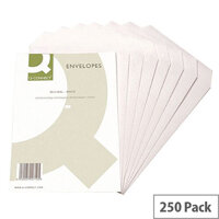 Q-Connect Envelope C4 90gsm White Self-Seal (Pack of 250)