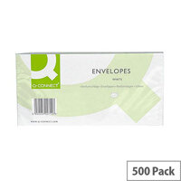 Q-Connect Envelope DL 100gsm Window Peel and Seal White Pack of 500