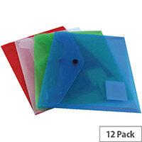 A5 Document Folder Polypropylene Assorted Pack of 12 Q-Connect KF03609