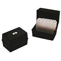 Q-Connect Card Index Box 152x102mm 6x4 Inches Black