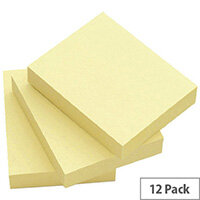 Q-Connect Quick Note Repositionable Pad 50x75mm Yellow Pack 12