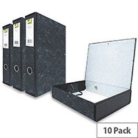 Box File Spring Lock Foolscap 75mm Spine Grey Cloudy 10 Pack Q Connect