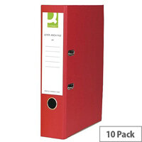 Q-Connect Lever Arch File Foolscap Polypropylene Red 10 Pack