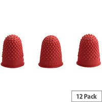 Q-Connect Thimblette No.00 Red Pack of 12