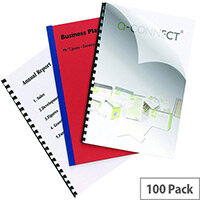 Q-Connect Clear Comb Binding Cover 250 Micron A4 Pack 100