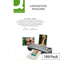 Q-Connect Laminating Pouch A5 250 Microns (125 Microns Each Side) - Suitable For Notices, Posters, Signage & More. Ideal In Offices, Schools, Homes & More.