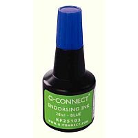 Q-Connect Endorsing Ink 28ml Blue Pack of 10 KF25103Q