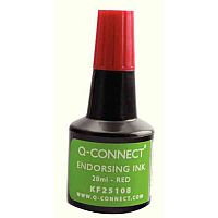 Q-Connect Endorsing Ink 28ml Red Pack of 10 KF25108Q