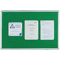 Q Connect Notice Board 900 x 600mm Aluminium Frame Green