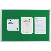 Q Connect Notice Board 1200 x 900mm Aluminium Frame Green