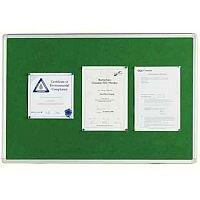 Q Connect Notice Board 1800 x 1200mm Aluminium Frame Green