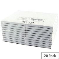 Q-Connect Scribble Pad 127x76mm 80 Leaf Plain Pack 20