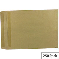 Q-Connect Self Seal Manilla Pocket Envelopes 406x305mm 115gsm Pack of 250