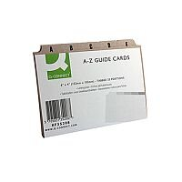 Q-Connect Guide Card 6x4 Inch A-Z Buff Pack of 25
