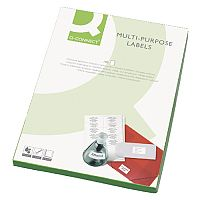 Q-Connect White Multipurpose Labels 99.1 x 93.1mm 6 Per Sheet Pack of 600