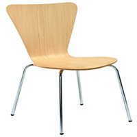 Arista Picasso Wooden Chair Beech and Silver Set Pack of 4 KF72460