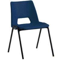 Polypropylene Stacking Chair Blue Jemini KF74958