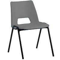 Polypropylene Stacking Chair Grey Jemini KF74960