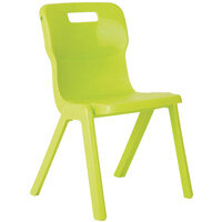 Titan One Piece School Chair Size 4 380mm Lime Pack of 10