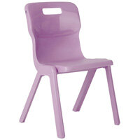 Titan One Piece School Chair Size 6 460mm Purple Pack of 10