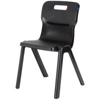 Titan One Piece School Chair Size 6 460mm Black Pack of 10